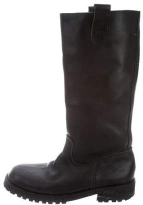 Junya Watanabe Leather Mid-Calf Boots
