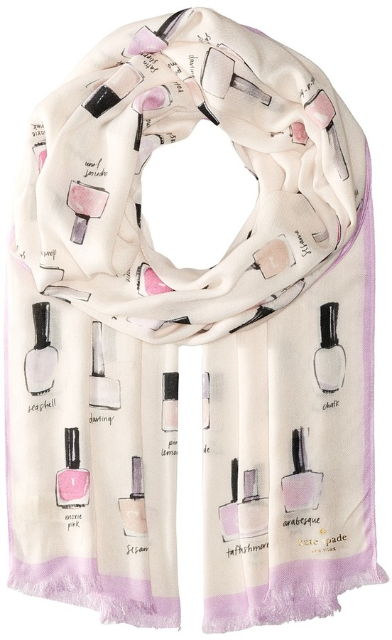Kate Spade Kate Spade New York - Nail Polish Oblong Scarf Scarves