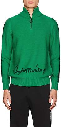 """Off-White Men's """"Impressionism"""" Wool Sweater - Green"""