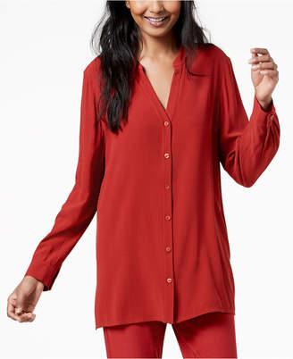 Eileen Fisher Silk Stand-Collar Tunic, Regular & Petite
