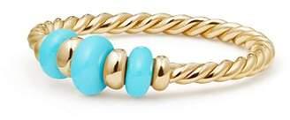 David Yurman Rio Rondelle Ring with Turquoise & 18K Gold