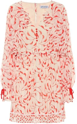 Self-Portrait Self Portrait Printed chiffon minidress