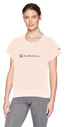 Champion Women's Heritage French Terry Short Sleeve Crew