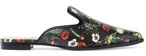 Schutz Tae Floral-Print Leather Slippers