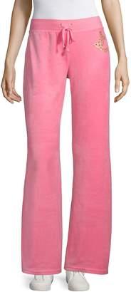 Juicy Couture Women's Wide-Leg Velour Track Pants