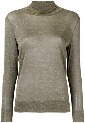 Fabiana Filippi metallic turtle-neck sweater