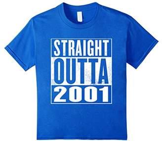 16th Birthday Gift T-Shirt - Straight Outta 2001 Shirt