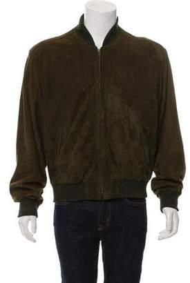Burberry Vintage Suede Bomber Jacket
