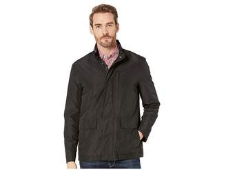Cole Haan Packable Rain Jacket with Stand Collar