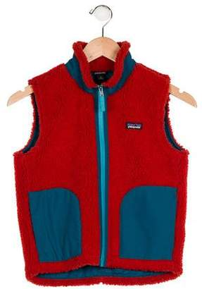 Patagonia Boys' Fleece Zip-Up Vest