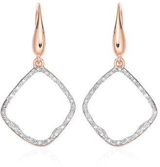 Women's Monica Vinader 'Riva' Diamond Hoop Drop Earrings $495 thestylecure.com