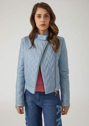 Emporio Armani Quilted Leather Biker Jacket