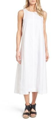 Women's Eileen Fisher Organic Linen Long A-Line Dress $202.80 thestylecure.com