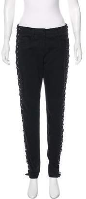 A.L.C. Mid-Rise Lace-Up Jeans