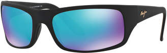 Maui Jim Polarized Peahi Sunglasses, 202 Blue Hawaii Collection