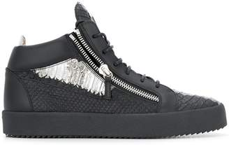 Giuseppe Zanotti Design Kriss metallic mid-top sneakers