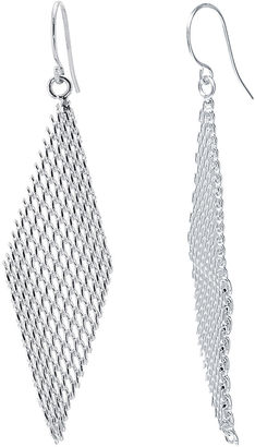SILVER REFLECTIONS Silver-Plated Mesh Kite Earrings $38 thestylecure.com