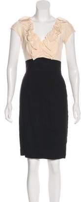 Rebecca Taylor Linen-Blend Ruffle-Accented Dress