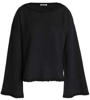 Ribbed-Knit Brushed-Wool Top