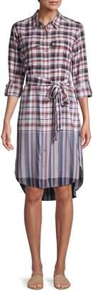 Tommy Hilfiger Plaid Tie-Front Shirtdress