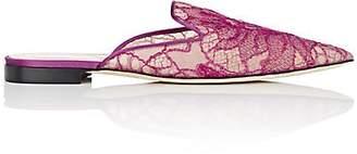 Alberta Ferretti Women's Lace Mules - Purple