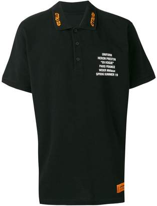 Heron Preston slogan print polo shirt
