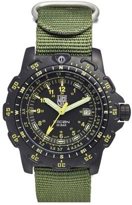 Men's Luminox 'Land - Recon Point Man' Nylon Strap Watch, 45Mm $450 thestylecure.com