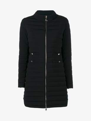 Moncler long quilted jacket