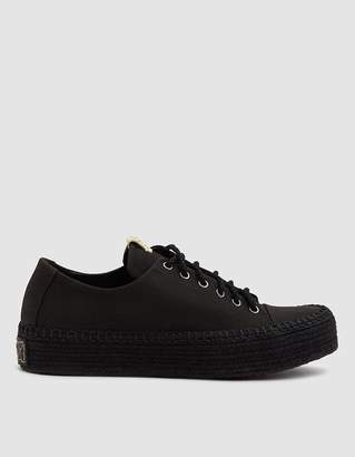 Visvim Prima Lace Up Folk Shoe in Black