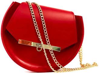 Angela Valentine Handbags Loel Mini Military Bee Chain Bag Clutch In Rich Red