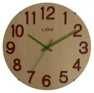 Nextime Blond Woody Round Wall Clock