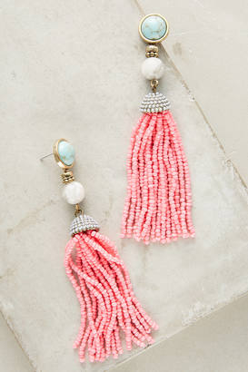 BaubleBar Pink Tassel Drop Earrings $48 thestylecure.com
