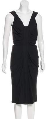 Christian Dior Sleeveless Gathered Dress