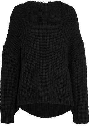 Oscar de la Renta Open-Knit Wool Sweater