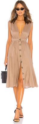 LPA Shirred Button Up Dress