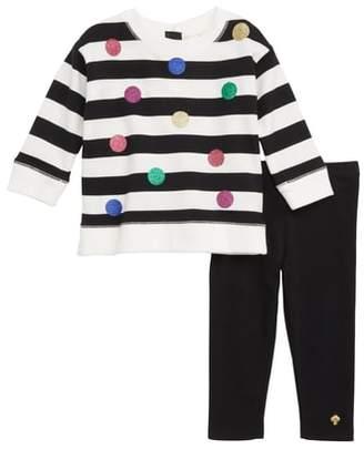 Kate Spade Glitter Dot Sweatshirt & Leggings Set