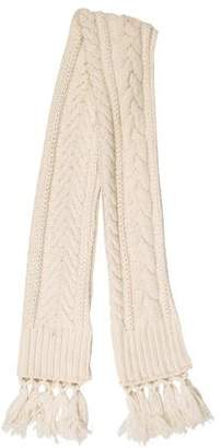 Burberry Wool & Cashmere-Blend Knit Scarf