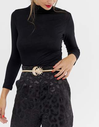 Asos Design DESIGN moon and star buckle chain belt