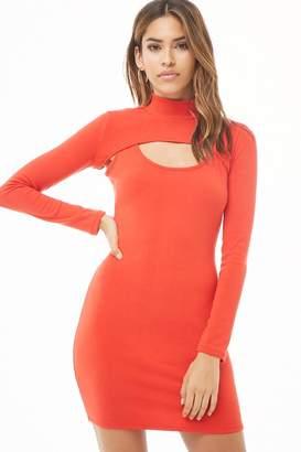 Forever 21 Mock Neck Cutout Mini Dress