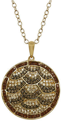 Animal Planet Crystal 14K Yellow Gold Over Silver Endangered Hawksbill Sea Turtle Pendant Necklace