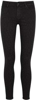 Articles of Society Sarah Black Leopard-print Skinny Jeans