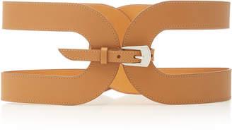 Maison Vaincourt Cage Leather Waist Belt