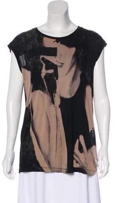 AllSaints Printed Knit Top