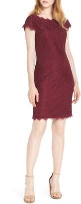 Eliza J Cap Sleeve Lace Sheath Dress