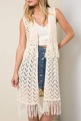 Hayden Los Angeles Sleeveless Crochet Vest