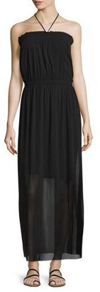 Fuzzi Smocked Halter Maxi Dress $495 thestylecure.com
