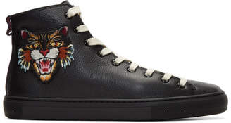 Gucci Black Angry Cat and UFO Major High-Top Sneakers