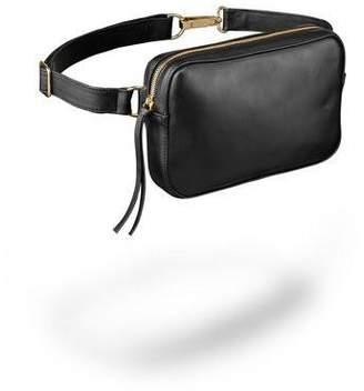 Ames Tovern Leather Square Hip Bag Black