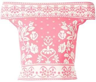 Alexander McQueen jacquard knit top