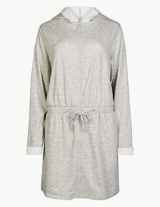 Marks and Spencer Fleeceback Zip Through Dressing Gown